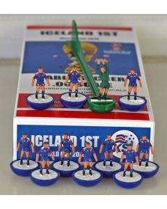 01. ICELAND 1ST 2018 WORLD CUP. Ltd Edition Hand Painted Team. Blue Base, White Disc.