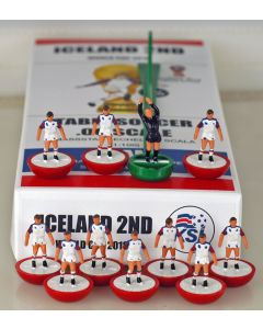 01. ICELAND 2ND 2018 WORLD CUP. Ltd Edition Hand Painted Team. Red Base, White Disc.