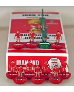 01. IRAN 2ND 2018 WORLD CUP. Ltd Edition Hand Painted Team. Red Base, Red Disc.