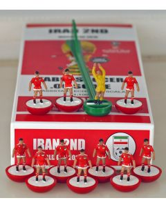01. IRAN 2ND 2018 WORLD CUP. Ltd Edition Hand Painted Team. Red Base, White Disc.