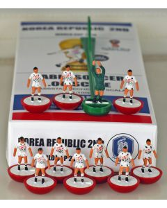 01. KOREA REPUBLIC 2ND 2018 WORLD CUP. Ltd Edition Hand Painted Team. Red Base, White Disc.