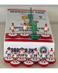 01. MOROCCO 2ND 2018 WORLD CUP. Ltd Edition Hand Painted Team. Red Base, White Disc.