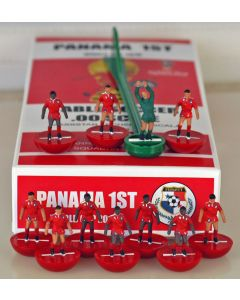01. PANAMA 1ST 2018 WORLD CUP. Ltd Edition Hand Painted Team. Red Base, Red Disc.