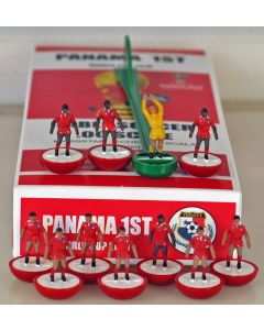 01. PANAMA 1ST 2018 WORLD CUP. Ltd Edition Hand Painted Team. Red Base, White Disc.