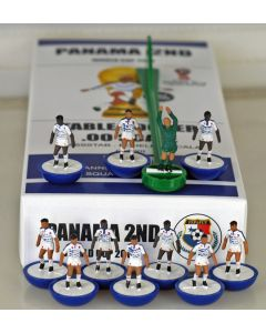 01. PANAMA 2ND 2018 WORLD CUP. Ltd Edition Hand Painted Team. Blue Base, White Disc.