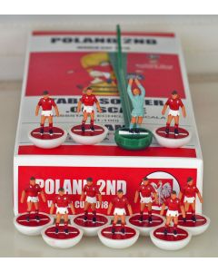 01. POLAND 2ND 2018 WORLD CUP. Ltd Edition Hand Painted Team. White Base, Red Disc.