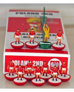 01. POLAND 2ND 2018 WORLD CUP. Ltd Edition Hand Painted Team. Red Base, White Disc.