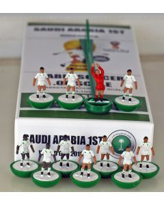 01. SAUDI ARABIA 1ST 2018 WORLD CUP. Ltd Edition Hand Painted Team. Green Base, White Disc.