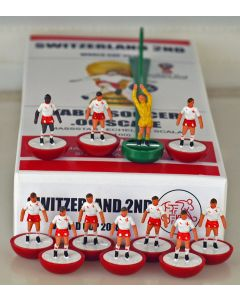 01. SWITZERLAND 2ND 2018 WORLD CUP. Ltd Edition Hand Painted Team. Red Base, White Disc.