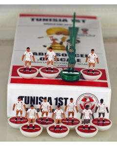 01. TUNISIA 1ST 2018 WORLD CUP. Ltd Edition Hand Painted Team. White Base, Red Disc.