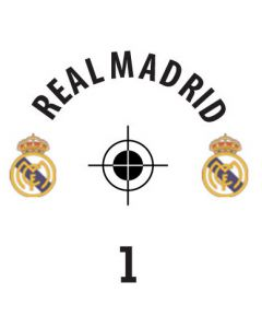 REAL MADRID DECALS. (24 base stickers with badge, name & numbers)