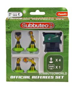 01. NEW SUBBUTEO REFEREE SET NOW WITH VAR. Referee, 2 Linesmen, 4th Official & VAR.