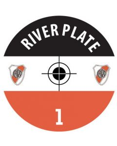 RIVER PLATE DECALS. (24 base stickers with badge, name & numbers)