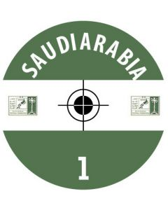 SAUDI ARABIA DECALS. (24 base stickers with badge, name & numbers)