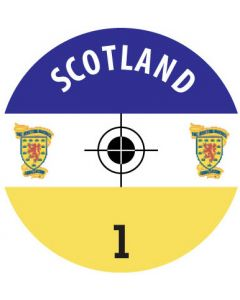 SCOTLAND DECALS. (24 base stickers with badge, name & numbers)