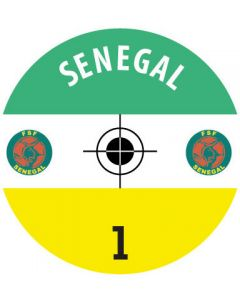 SENEGAL DECALS. (24 base stickers with badge, name & numbers)