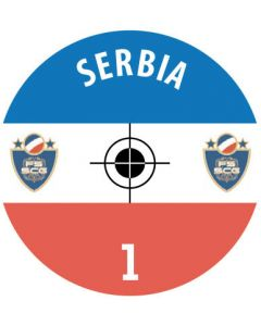 SERBIA DECALS. (24 base stickers with badge, name & numbers)