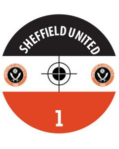 SHEFFIELD UTD DECALS. (24 base stickers with badge, name & numbers)