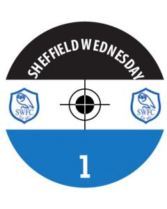 SHEFFIELD WED DECALS. (24 base stickers with badge, name & numbers)