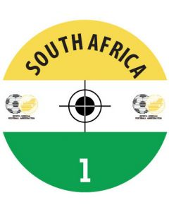 SOUTH AFRICA DECALS. (24 base stickers with badge, name & numbers)