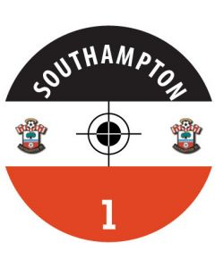 SOUTHAMPTON DECALS. (24 base stickers with badge, name & numbers)