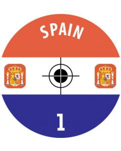 SPAIN DECALS. (24 base stickers with badge, name & numbers)