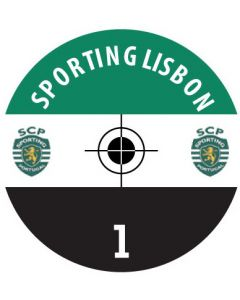 SPORTING LISBON DECALS. (24 base stickers with badge, name & numbers)