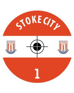 STOKE CITY DECALS (24 base stickers with badge, name & numbers)