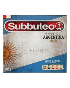 001. ARGENTINA COLLECTORS EDITION SUBBUTEO SET. With 4 LW Teams: Boca Juniors, Independiente, River Plate & Estudiantes, Player Numbers, Goals, A Ball, A Cotton Pitch & Rules. The Ideal Starter Set.