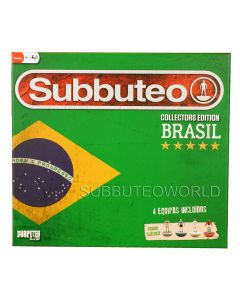 001. BRAZIL COLLECTORS EDITION SUBBUTEO SET. With 4 LW Teams: Fluminense, Sao Paulo, Flamengo & Santos, Player Numbers, Goals, A Ball, A Cotton Pitch & Rules.