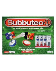 001. THE NEW 2020 FRANCE-BELGIUM SUBBUTEO BOX SET. Now With New Design Flexible Figures In Red & Blue Kits.