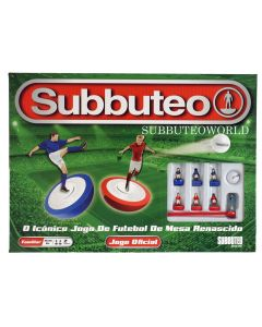001. THE NEW 2020 PORTUGUESE SUBBUTEO BOX SET. Now With New Design Flexible Figures In Red & Blue Kits.