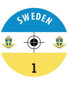 SWEDEN DECALS. (24 base stickers with badge, name & numbers)