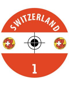 SWITZERLAND DECALS. (24 base stickers with badge, name & numbers)