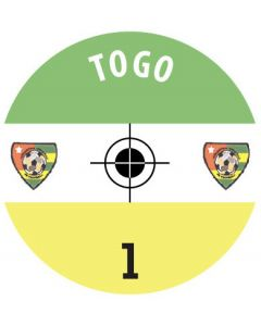 TOGO DECALS. (24 base stickers with badge, name & numbers)