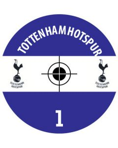 TOTTENHAM DECALS. (24 base stickers with badge, name & numbers)