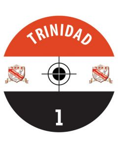 TRINIDAD DECALS. (24 base stickers with badge, name & numbers)