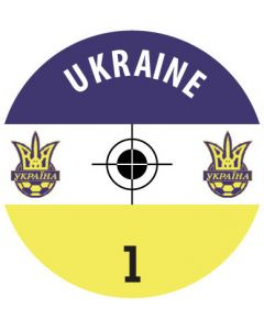 UKRAINE DECALS. (24 base stickers with badge, name & numbers)