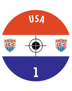USA DECALS. (24 base stickers with badge, name & numbers)