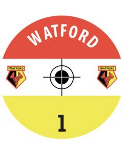 WATFORD DECALS. (24 base stickers with badge, name & numbers)