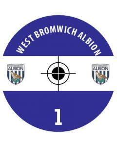 WEST BROMWICH ALBION DECALS. (24 base stickers with badge, name & numbers)