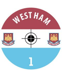 WEST HAM UTD DECALS. (24 base stickers with badge, name & numbers)