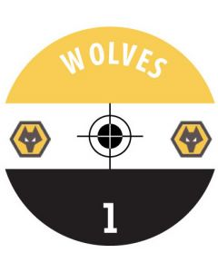 WOLVES DECALS. (24 base stickers with badge, name & numbers)