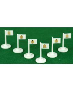 AIRDRIEONIANS (SCOTLAND) CORNER FLAGS.