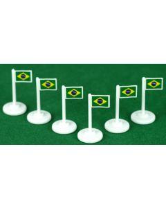 001. BRAZIL CORNER FLAGS.