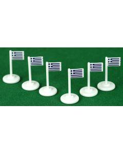 001. GREECE CORNER FLAGS.