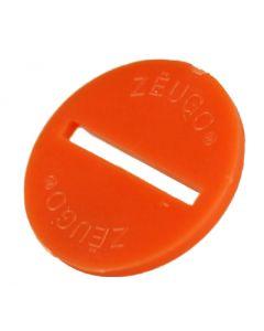 ZEUGO. ONE ORANGE ZEUGO DISC. NO BASE.