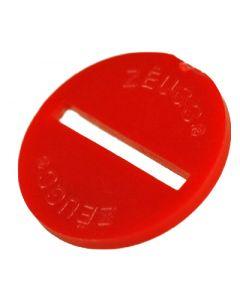 ZEUGO. ONE RED ZEUGO DISC. NO BASE.