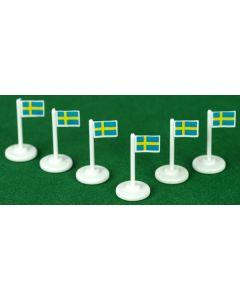 001. SWEDEN CORNER FLAGS.