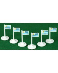 001. URUGUAY CORNER FLAGS.